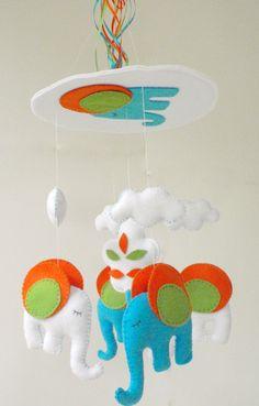Baby Crib Mobile  Baby Mobile  Nursery Crib by LaPetiteMelina, $70.00