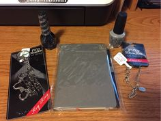 Fifty Shades Of Grey Lot, Notebook,key chain,nail polish, Bracelet-GIN bonus!