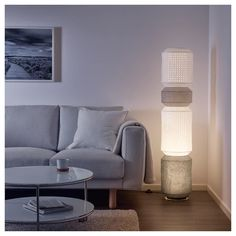 MAJORNA Floor lamp with LED bulb, white. You can create a soft, cozy atmosphere in your home with a paper lamp that spreads diffused and decorative light. Luminaire Ikea, Paper Floor Lamp, Floor Lamps, Paper Lamps, Ikea Canada, Floor Standing Lamps, Standing Lights, White Floor Lamp, Ikea Us