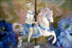 Vintage Porcelain Old Fashioned Carousel Horse by HappyGalsVintage