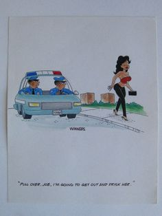 Vtg George Winners Ebony Magazine Cartoon Risque Cops Prostitute Humor Painting FOR SALE • $11.50 • See Photos! Money Back Guarantee. Up for auction is a vintage George Winners Ebony magazine cartoon risque cops humor painting, Signed. In very nice original condition; no rips or tears(please view images provided). Painting measures 292050827178