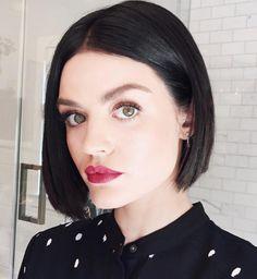 Lucy Hale New Hair - Short Cut Dark 90s Bob
