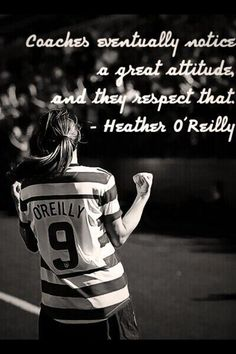Soccer, heather o Reilly, HAO Soccer Girls, Us Soccer, Soccer Stuff, Soccer Players, Soccer Motivation, Fitness Motivation, Motivational Quotes, Inspirational Quotes, Soccer Boots