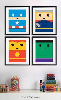 Incredible Hulk Poster for Kids Room Cute por TwoFishProject