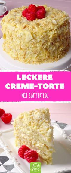 Delicious cream cake with puff pastry .- Leckere Creme-Torte Mit Blätterteig Delicious cream pie with puff pastry cream pastry - Chocolate Cake From Scratch, Chocolate Cookie Recipes, Chocolate Chip Cookies, Torte Au Chocolat, Napoleon Cake, Puff Pastry Recipes, Vanilla Cream, Food Cakes, Cake Recipes