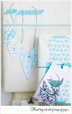 Wrapping ideas using scraps of printed paper or hand decorated scraps.