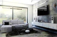 Minimalistyczny salon biel+beton - zdjęcie od gabriella-bober