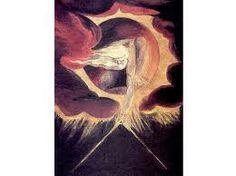 """""""El anciano de los Días"""" Autor: Wilian Blake 1757 Grabado en acero con acuarela.Estilo Romanticismo. Lo que más me ha llamado la atención es que la escena tiene lugar en un tribunal donde el """"Anciano de Días"""" se sienta para juzgar a las potencias mundiales, que están representadas por enormes bestias."""