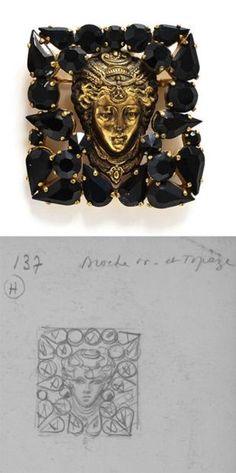 DENEZ POUR YVES SAINT LAURENT Décembre 1962 / Février 1963 Modèle référencé