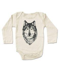 Another great find on #zulily! Cream Wolf Organic Bodysuit - Infant #zulilyfinds
