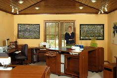 Nancy Zieman combined a TreasureChest IV and a StorageCenter Plus IV to create an island in the middle of her room.
