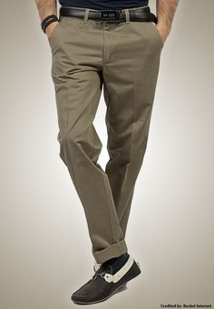 "IRONEEZEE Military Olive ""Comfort Fit"" Wrinkle Free 100% Cotton Trouser #men #style #fashion #menswear #Pants #Jeans #trousers #onlinemela www.onlinemela.pk Order Now: +92-334-333-6352"