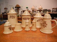 $233.00+++VINTAGE PFALTZGRAFF VILLAGE PATTERN KITCHEN CANISTER AND COFFEE SETS | eBay