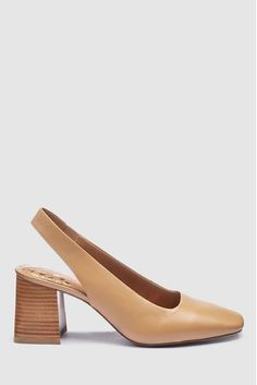 Buy Camel Forever Comfort® Block Flare Slingbacks from the Next UK online shop Latest Fashion For Women, Mens Fashion, Holiday Shoes, Real Leather, Work Wear, Camel, Kitten Heels, Loafers, Brown