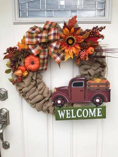 Check out this item in my Etsy shop https://www.etsy.com/listing/555735189/welcome-wreath-fall-wreath-welcome-fall