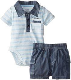 Calvin Klein Baby-Boys Newborn Stripes Polo Bodysuit and Denim Shorts, Blue Assorted, 0-3 Months Calvin Klein http://www.amazon.com/dp/B00NNPW4D0/ref=cm_sw_r_pi_dp_1UnYub0NX9C0C