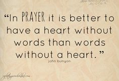 #PRAYER {Our Heart Speaking to His} #Quotes