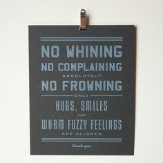 No Whining Art Print (Small) via shopgoodokc.com $10