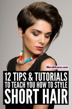 How to Style Short Hair | Whether you have straight, wavy, or curly hair, this post will teach you how to style short hair like a pro. From the best drugstore hair products for short hair, to must-know styling tips and techniques, to 5 step-by-step hair tutorials, you'll learn everything you need to know to keep your short hair stylish. From sexy beach waves, to a super easy crown braid, to a low bun, to cute and easy half up half down styles, this post doesn't disappoint!