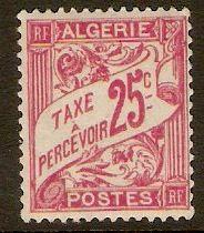 Algeria 1926 25c Rosine Postage Due. SGD37.