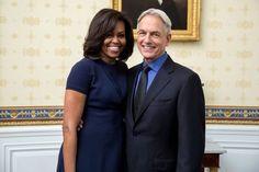 Mark Harmon meets Michelle Obama. #NCIS #meetsfirstLady