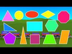 Learn Shapes with Choo-Choo Train - part Plane geometry for kids. Preschool Learning, Kindergarten Math, Math Activities, Teaching, Geometry Test, Plane Geometry, Shapes For Kids, Learning Shapes, Choo Choo Train