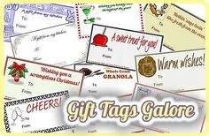 Gift Tags Galore--18 Tags for Gifts from Your Kitchen