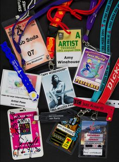 Amy Winehouse Stage Passes. Up left: Club Soda, Festival de Jazz Montréal 2004.