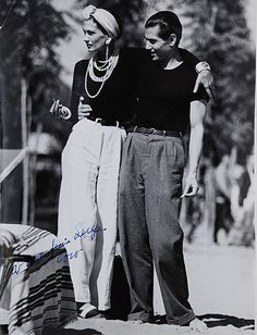 Coco Chanel and Serge Lifar, 1937.