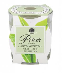 Prices Candles Scented Jar Green Tea