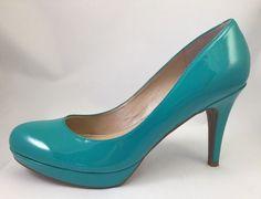 Marc Fisher Women's Sydney2 Turquoise Medium Green LL High Heel Pumps Size 9 #MarcFisher #PumpsClassics