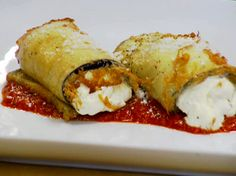 Eggplant Cannelloni Recipe : Robert Irvine : Food Network - FoodNetwork.com