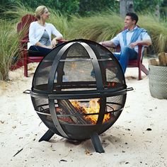 Warm up your fall gatherings with this cool fire pit.