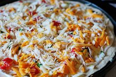 Chicken Ranch Pizza - simple and delicious!