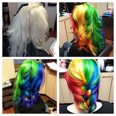 Check out this rainbow hair by Dawn Souders
