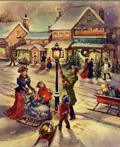 Christmas lamplighter