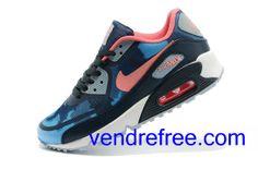 new products 11ffe 48d57 Vendre Pas Cher Femme Chaussures Nike Air Max 90  (couleur rose,bleu,noir,blanc) en ligne en France.