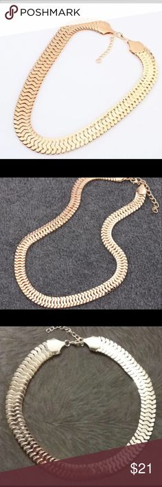 GOLD THICK NECKLACE CHAIN- costume COSTUME JEWELRY THICK GOLD NECKLACE CHAIN. Super light weight and trendy. Jewelry Necklaces