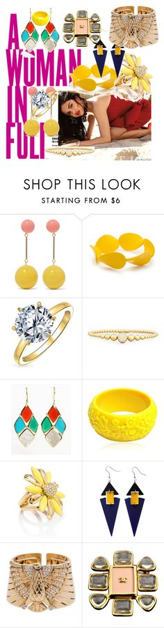 """""""Woman in full"""" by corys1109 on Polyvore featuring KAROLINA, J.W. Anderson, Kim Rogers, Bling Jewelry, Ippolita, Mariah Rovery, Kate Spade, Toolally, Cartier and Chanel"""