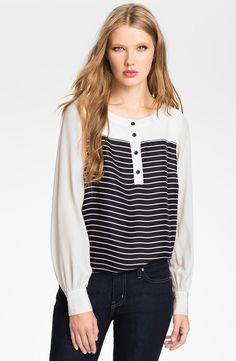 kate spade new york 'leanne' silk blouse