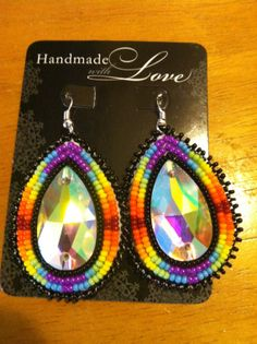 Native American Seed Bead Earrings by EARREIGNS on Etsy