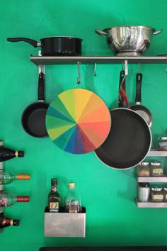 #DIY A spot of color for your kitchen! @Justina Siedschlag Blakeney