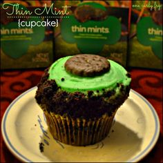 Thin Mint Cupcake from Crumbs Bakeshop