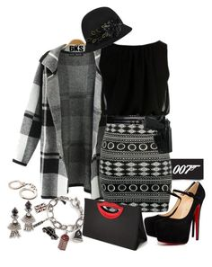 """""""On the Hunt for Bond"""" by nonniekiss ❤ liked on Polyvore featuring James Bond 007, Christian Louboutin, DANNIJO and Theory"""