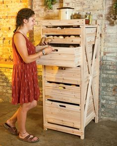 Deep Drawer Harvest Rack - Vegetable Storage Bins and Rack