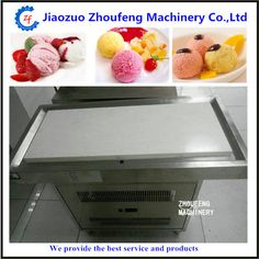Thailand cold stone table slab rolls fried ice cream machine