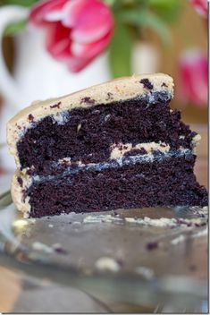 Extra Dark Chocolate Cake with Cookie Butter Buttercream
