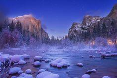 Christmas Valley View,Yosemite Nation Park, CA,USA by Murali Achanta - Photo 133614803 - 500px