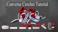 How to Crochet Converse Baby Booties (Free Pattern and Video)