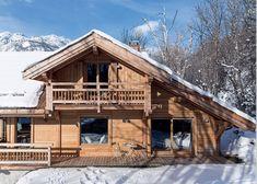 Modern chalet interiors behind traditional facade (see more) #chalet #french #alps #interior #design #chalet #modern #minimalist #designer #wood #wooden #winter #mountains